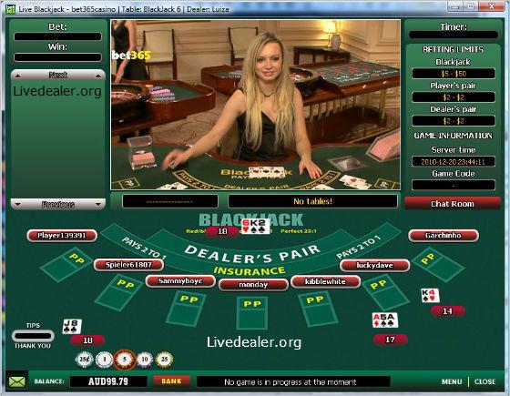 live blackjack bet365