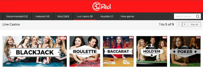 32 Red Live Casino