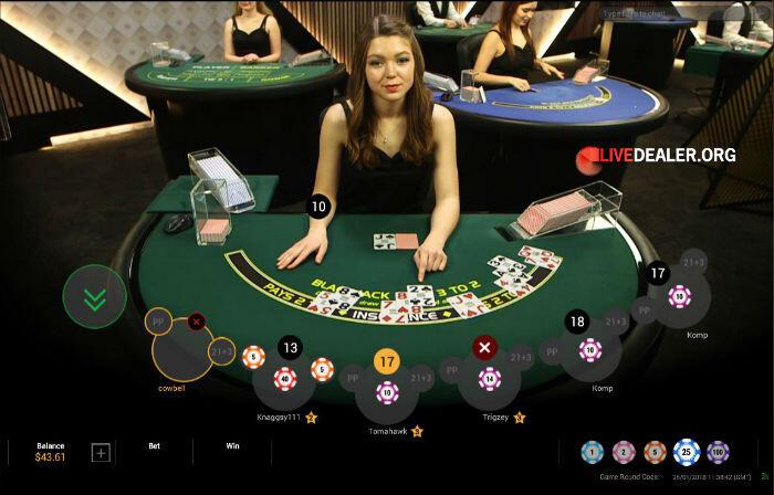 Playtech live dealer 'Lounge Blackjack'