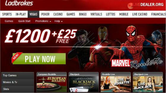 Ladbrokes & Playtech new live dealer games