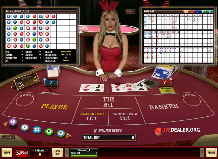 Live baccarat playboy