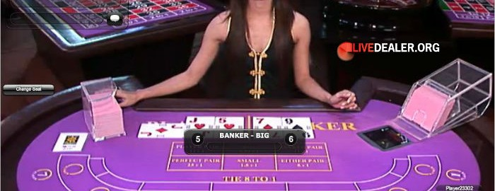 Baccarat with card peek