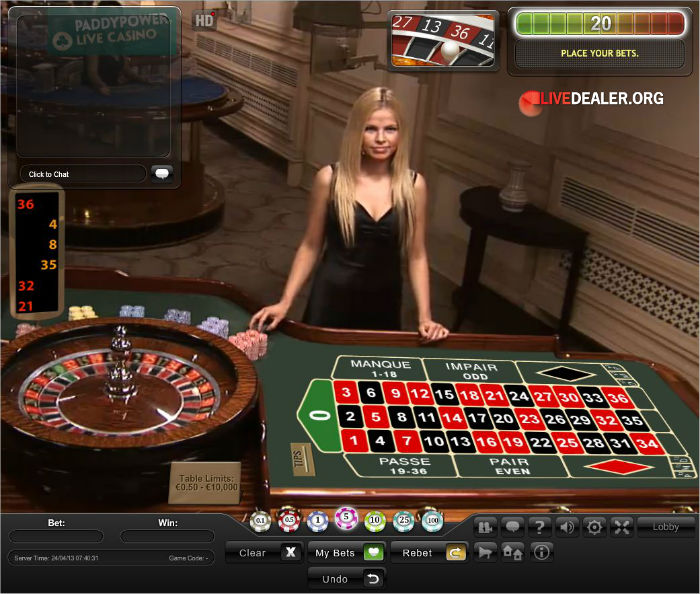 live french roulette from playtech