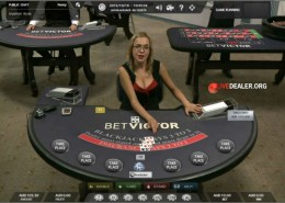 Victor's live casino blackjack