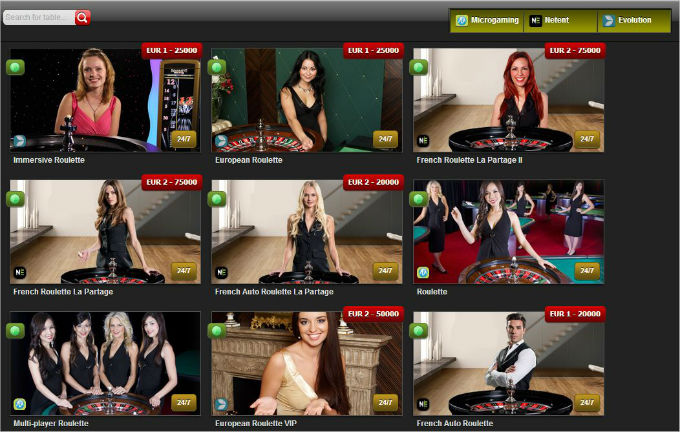 casinoengine live dealers