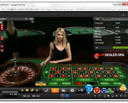 Roulette dealer Kerli
