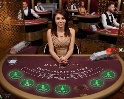 Evolution Gaming Diamond VIP live blackjack