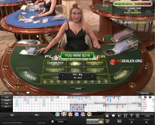 live dealer rota