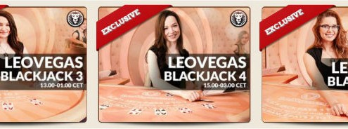 More Leo Vegas private blackjack tables