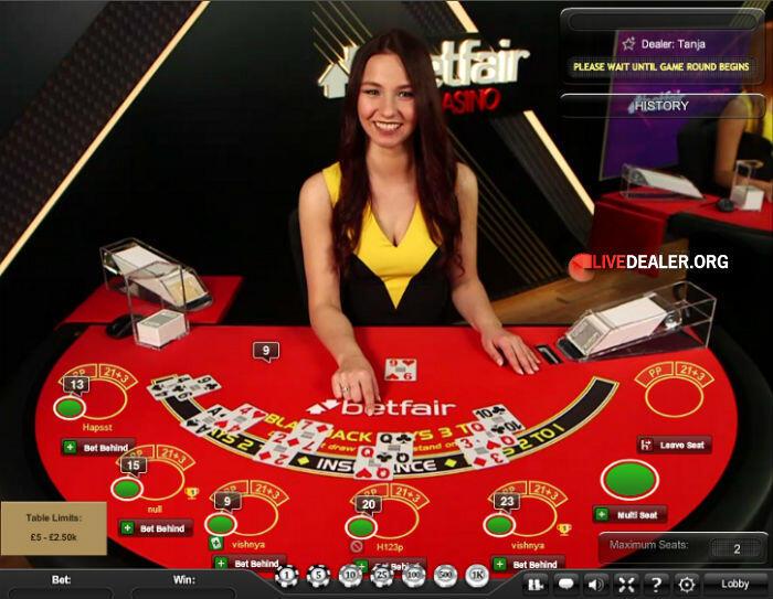 live blackjack @ Betfair